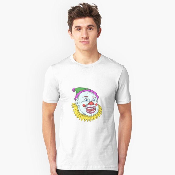 """Vintage Circus Clown Smiling Drawing"" Unisex T-Shirt by patrimonio   Redbubble  #clown #circusclown #tshirt"