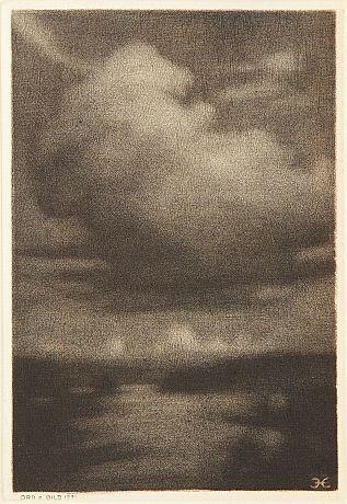 Prins Eugen (1865 - 1947): Molnet, mezzotint.