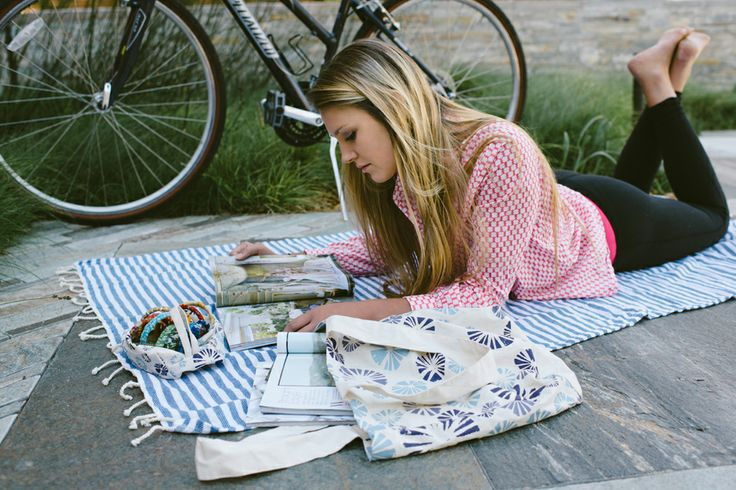 """All new """"Sea Shells"""" print for Freeset's 2014 Amity bag.   Photo by Calvina Photography"""