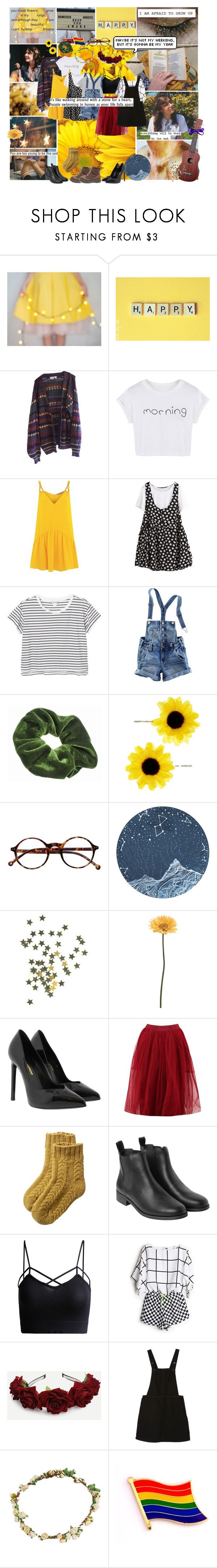 """""""Dodie Clark - doddleoddle"""" by smol-snowflake ❤ liked on Polyvore featuring Retrò, ...Lost, WithChic, Lazul, Monki, H&M, Accessorize, Gerber, Yves Saint Laurent and Boohoo"""