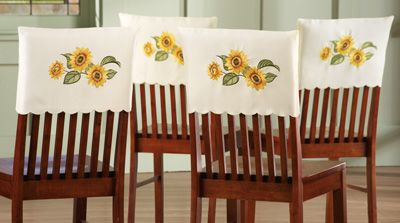 Sunflower Chair Covers - Can make these out of shortened pilow cases.