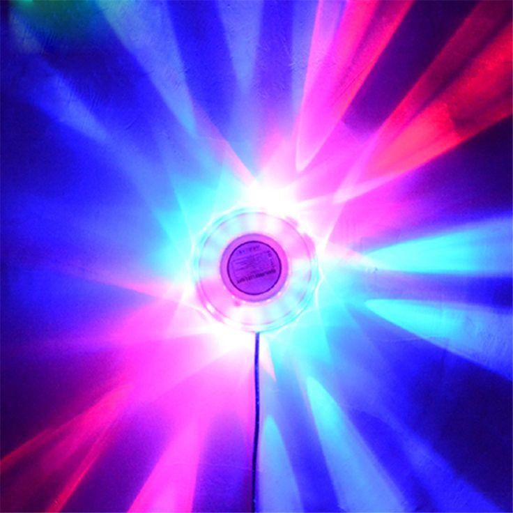 LED Voice-control Laser Stage Light Party Disco Club DJ Light Show Wedding Beam Lights Background Mini RGB Lamp Effect Lighting