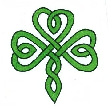 Fancy weave small shamrock - ClipArt Best - ClipArt Best