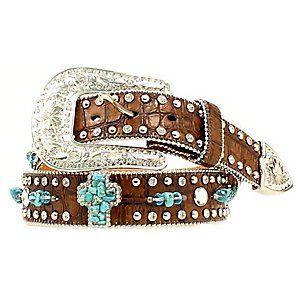 Nocona Ladies Turquoise Stone Western Belt N3484602 I want this now!