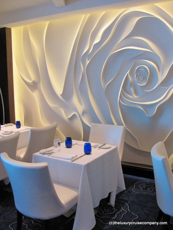 Blu Restaurant on Celebrity Reflection, the new cruise ship from Celebrity Cruises