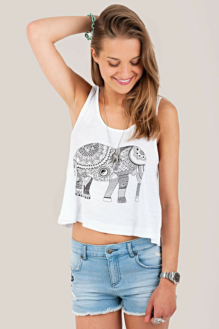 Tao tank tops and elephants on pinterest