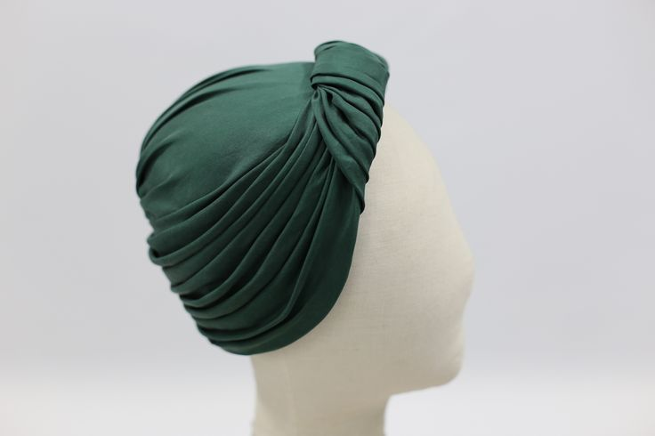 Hand draped and made silk turban with recycled silk.  #fashion #millinery #handmade #recycle #silk #vintagestyle #draping #turban