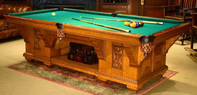 Antique Pool Table Restored By Peters Billiards In