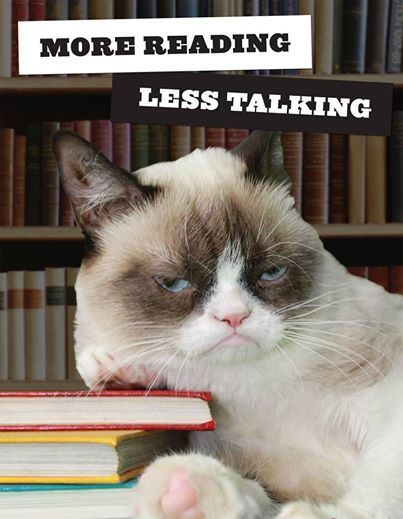 More Reading. Less Talking