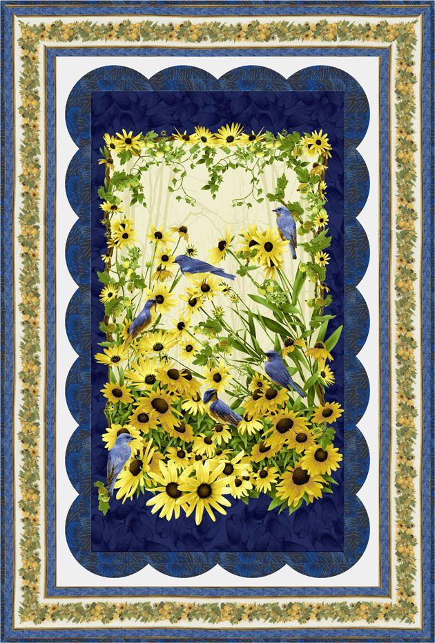 Bluebird Quilt By Jan Douglas Design Bluebird By Chong A