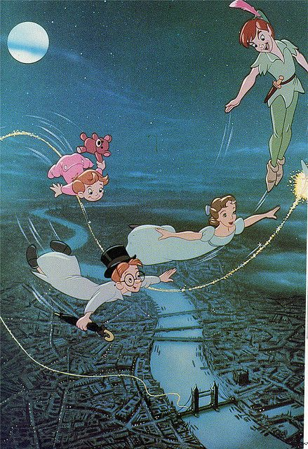 Peter Pan - Flying over London on the way to Never Never Land