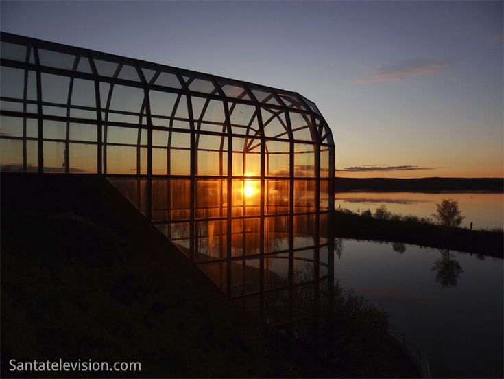 Arktikum à Rovaniemi en Laponie sous le soleil de minuit