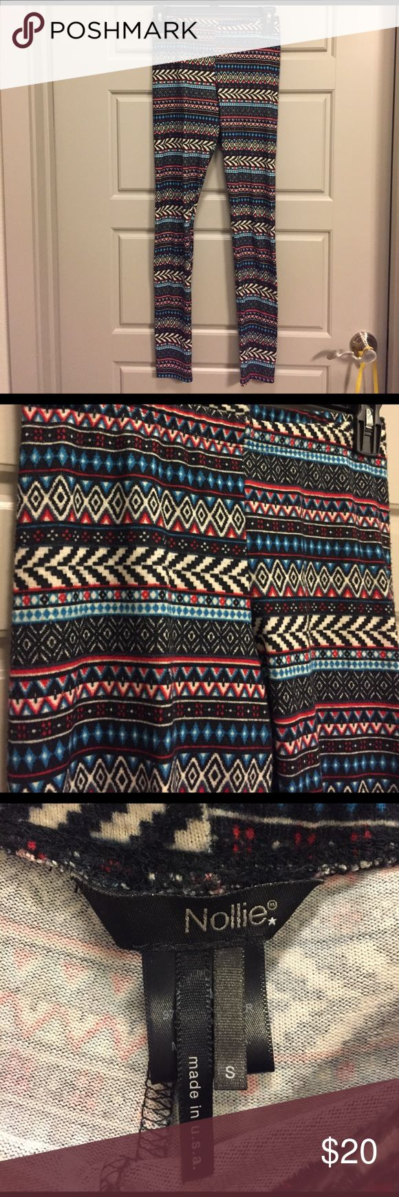 Tribal print leggings Tribal print Nollie leggings size small Nollie Pants Leggings