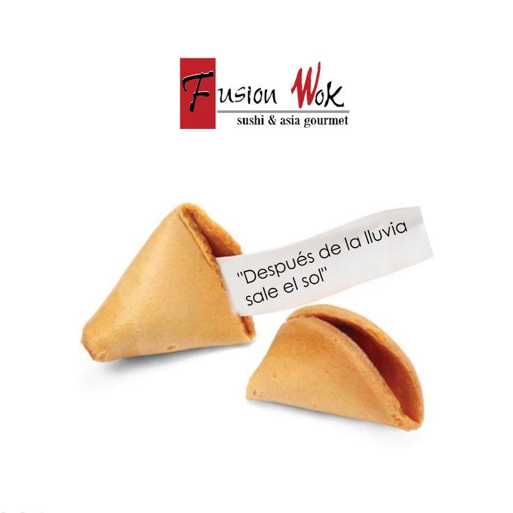 Galletas de la Fortuna. Fusion Wok  #fusionwok #happy #felicidad #felizdia…