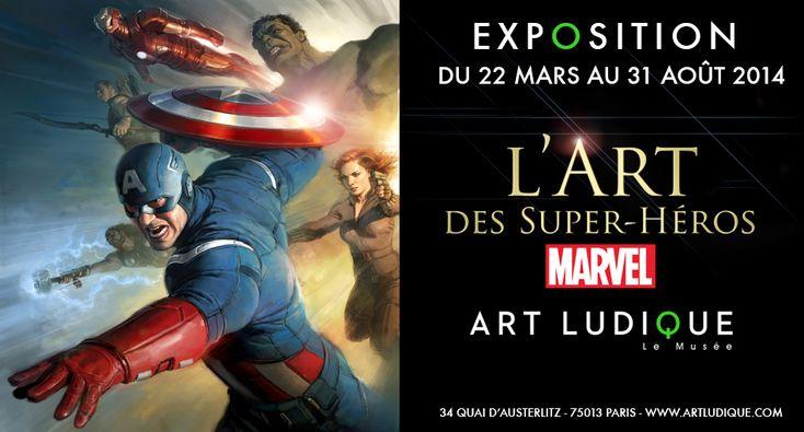 Du 22 mars au 31 août 2014, Art Ludique-Le Musée propose la première grande exposition au monde consacrée à l'Art des Super Héros Marvel.