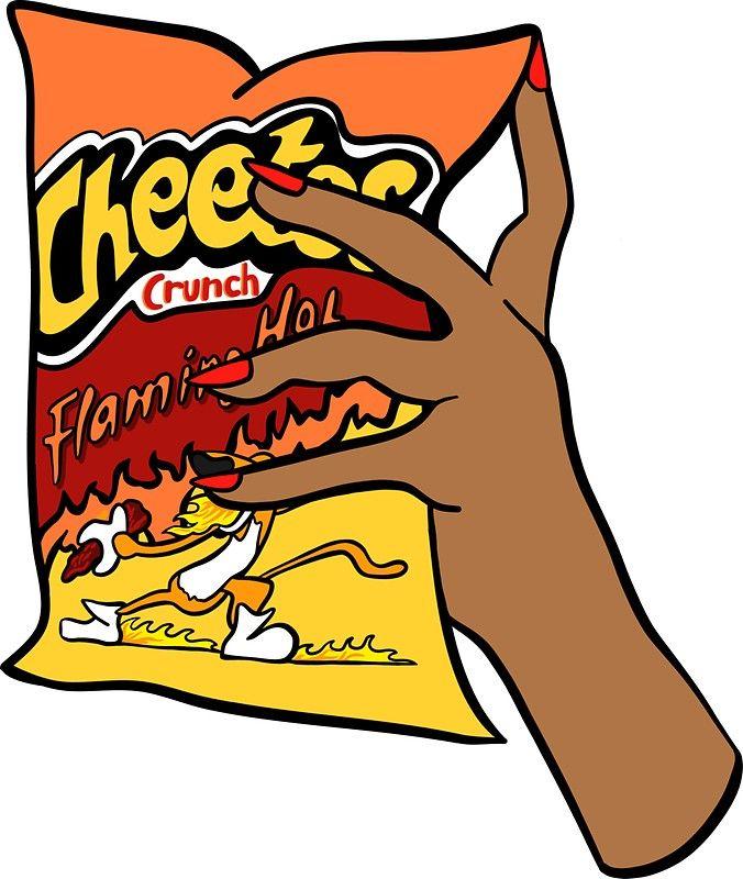 Flaming Hot Cheetos Sticker By Genevieve Geller Cheetos Preppy Stickers Girl Cartoon