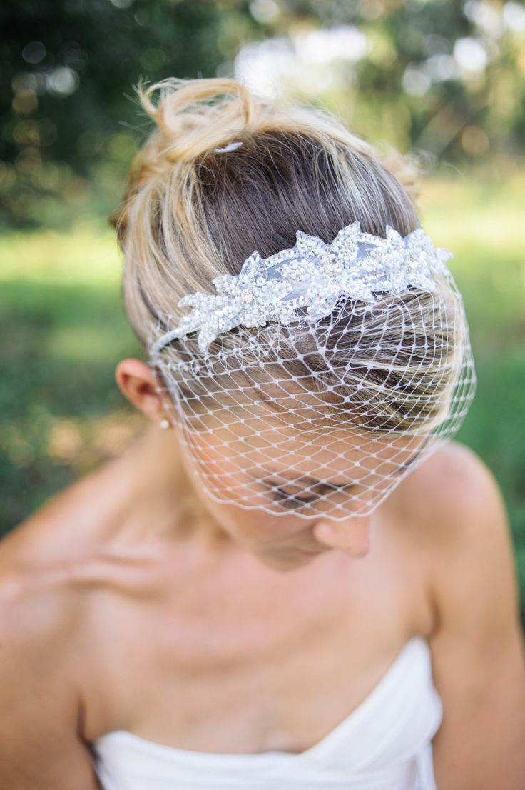 wedding+veils+Birdcage+veil+headband+with+beaded+by+BridesBoutik,+$48.90