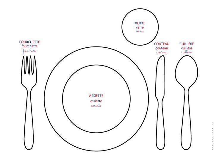 apprendre à mettre le couvert – set de table montessori a telecharger – cuisine et repas montessori