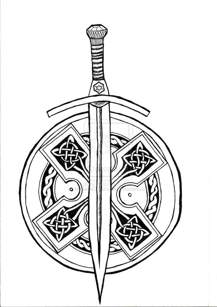 Greek Sword And Shield Tattoo Sword and shield tattoo