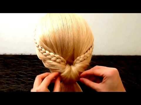 peinados faciles y rapidos con cabello suelto con trenzas peinado