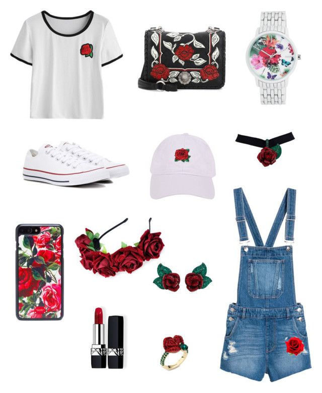 """Untitled #17"" by pacaca-gemela on Polyvore featuring Converse, Nine West, Miu Miu, Armitage Avenue, Atelier Swarovski, Christian Dior and Dolce&Gabbana"