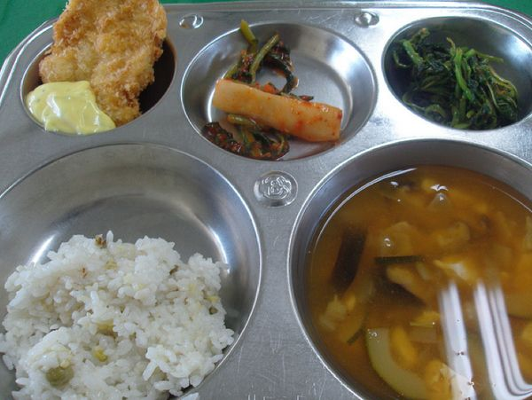 Not recipes, again, but something that looks pretty yummy from other countries--school lunch :)