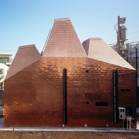 Love this copper-clad exterior. Fujitsubo by Archivision Hirotani Studio. See…