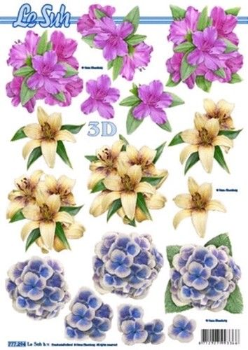 Le Suh Cut out sheet flowers 777 294 - Flowers
