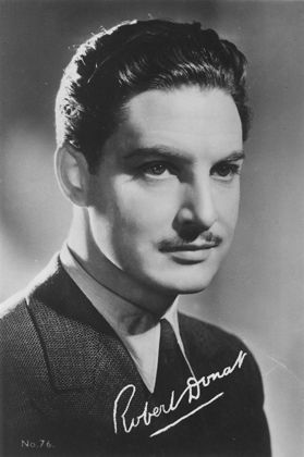 """Robert Donat (1905 - 1958) He starred in the movies """"Goodbye, Mr. Chips"""", """"The 39 Steps"""", and """"The Count of Monte Cristo"""""""