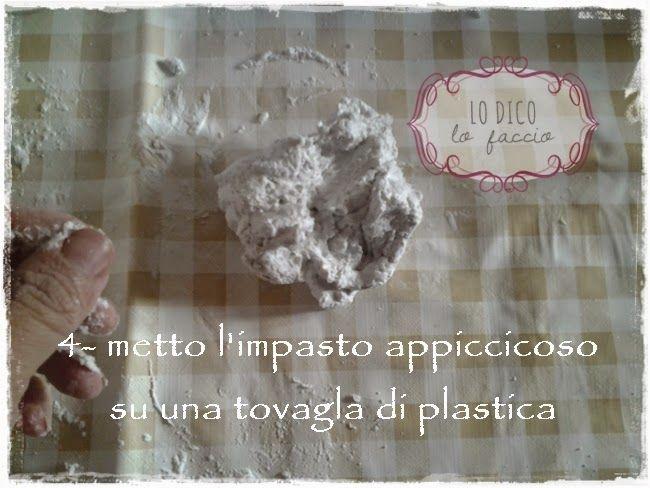 Lo Dico, lo Faccio : Pasta di borotalco per fare i gessetti: la ricetta [e cestino di fiori] tutorial
