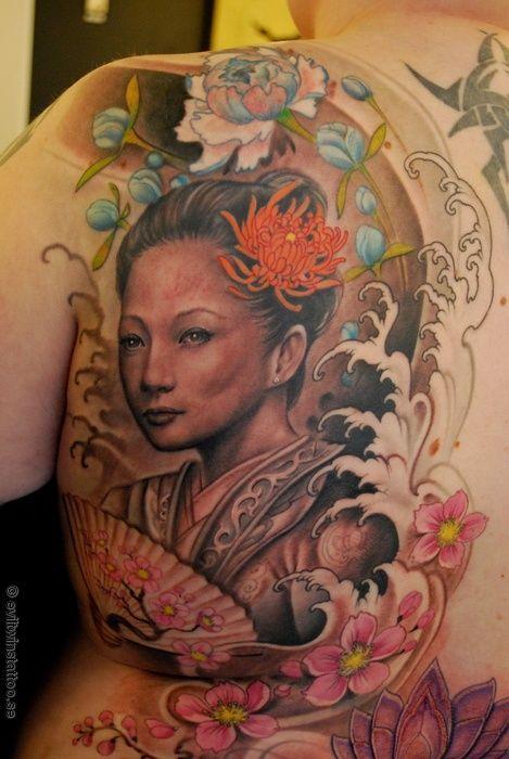 17 best images about geisha tattoo on pinterest frances - Tattoos geishas japonesas ...