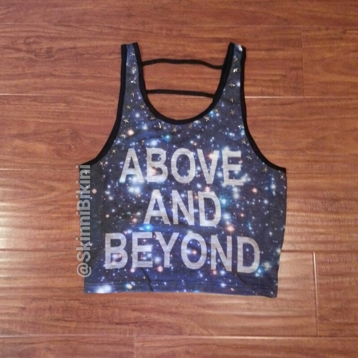 above and beyond crop top