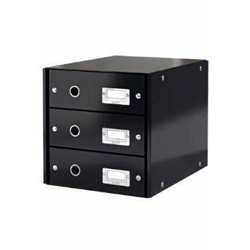 leitz click store module de classement 3 tiroirs 286358282mm
