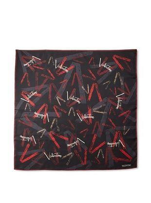 Valentino Women's V Logo Scarf (Red)