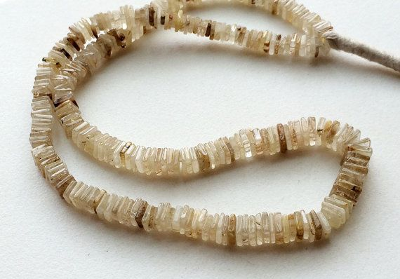 Gold Rutile Quartz Beads Gold Rutile Heishi Beads by gemsforjewels