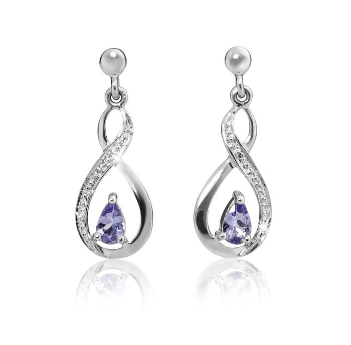 Silver and Tanzanite Earrings R689  *Prices Valid Until 25 Dec 2013