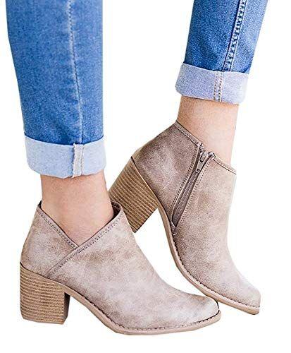 db5e493eddaf Bottine Femmes Plates Boots Femme Cuir Cheville Basse Bottes Talon Chelsea  Chic Compensé Grande Taille Chaussures 5cm Beige Bleu Gris Noir 35-43 KH38