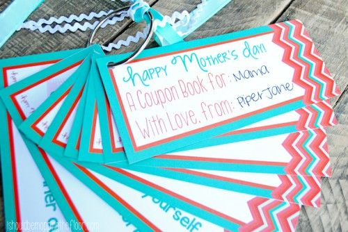 Mothers Day Coupon Book Free Printable from I Should Be Mopping The Floor