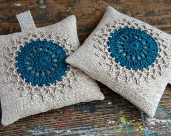 Set bolsitas lavandacrochet adorno2 por namolio en Etsy