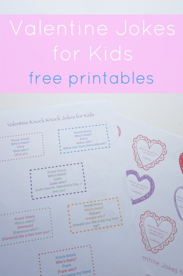 Valentine jokes for kids - free printables - a funny collection of Valentine jokes that are perfect for kids.