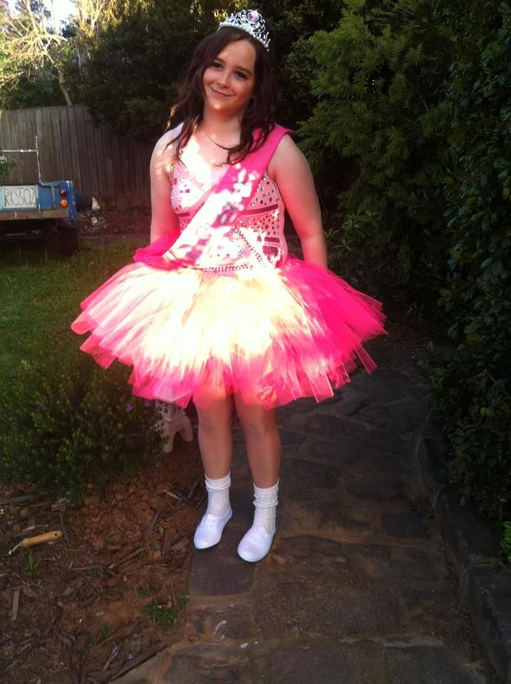 My honey boo boo costume I made from scratch for my muck up day in 2012