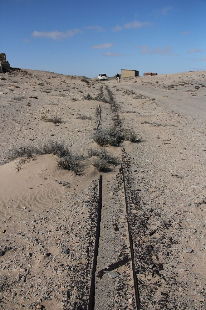 Forgotten, but not gone... train tracks in Namibia.