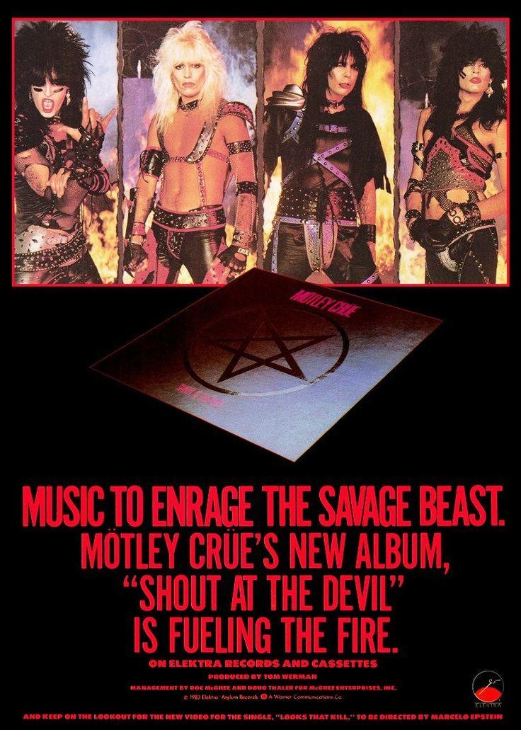 "Motley Crue ""Shout At The Devil"" Album Advertisement Stand-Up Display - Rock Collectibles Rock Memorabilia Retro Gift Idea Posters kiss76"