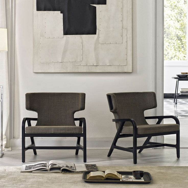 Contemporary armchair / leather / upholstered / wing FULGENS MAXALTO