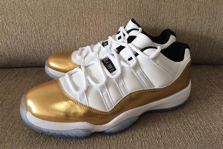"Air Jordan 11 Retro Low ""Olympic Gold"" (New Preview Pictures) - EU Kicks: Sneaker Magazine"