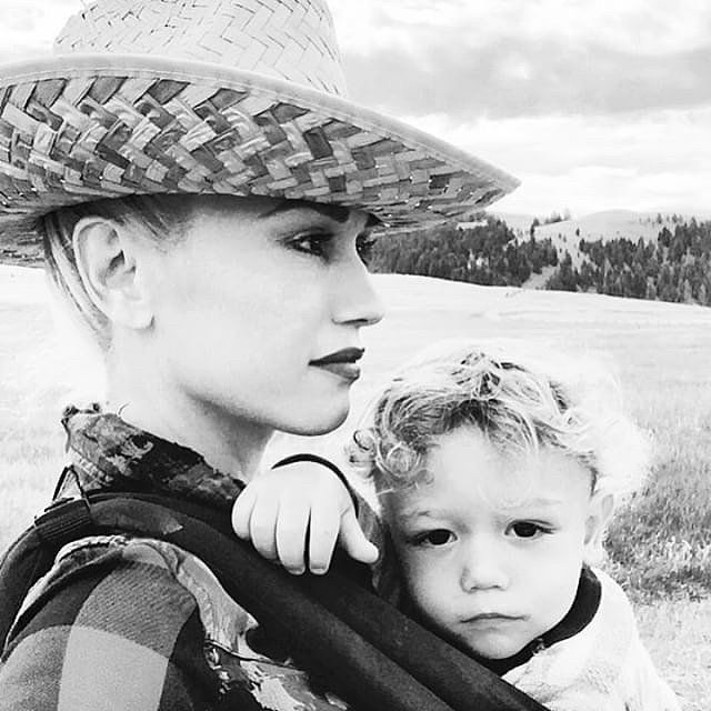 The singer gave her Instagram followers a peek inside her Summer getaway on Sunday, starting with an adorable photo with her son Apollo, 1. As her youngest boy looks straight into the camera, Gwen looks off in the distance at the peaceful landscape.