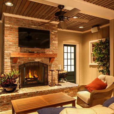 Brick fireplace design ideas pictures remodel and decor Brick fireplace wall decorating ideas