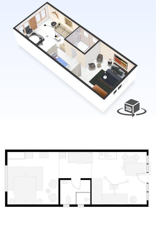 1 Bedroom Hotel Room Floor Plan In Interactive 3d Get Your Own 3d Model Today At Http Planto3d Com