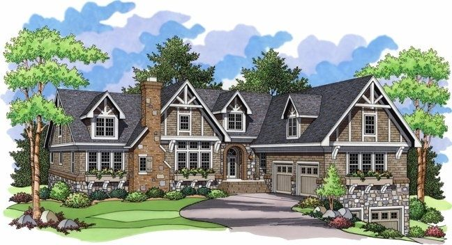 Hillside house plans with walkout basement country house for Hillside home plans walkout basement