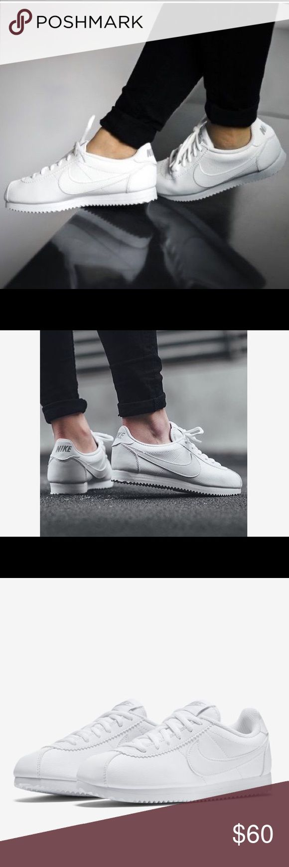NIKE CORTEZ WOMENS WHITE SHOES Shoes are a size 7 youth. Which is a size 8.5 Womens. New without box Nike Shoes Sneakers